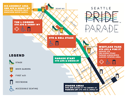 Seattle Bus Routes Map by Pride Parade 2016