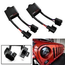 amazon com jeep wrangler jk amazon com ijdmtoy 2 h4 to h13 for jeep wrangler jk anti