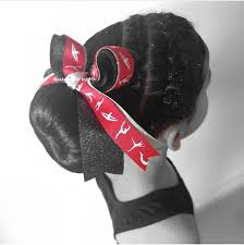 ribbon for hair that says gymnastics gymnastics bow red gymnastic hair clip gymnastics red black silver