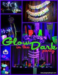 glow in the party graduation end of school party ideas sweet 16 neon party and