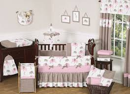 elephant decor for nursery with grey and pink color