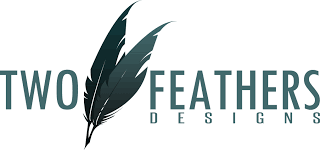 two feathers designs customized graphic designs