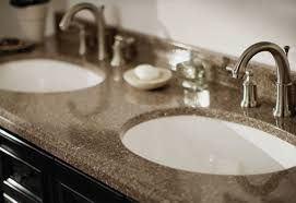 Guide To Choosing Bathroom Countertops And Vanity Tops From The - Bathroom vanities with tops at home depot
