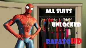 the amazing spider man 2 video game all suits costumes unlocked
