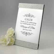 personalised diamante photo frame with guest name wedding