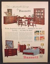 magazine ad for bassett furniture bedroom dining room