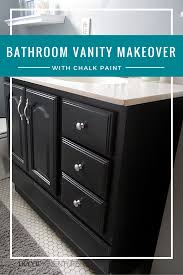 how to make chalk paint for cabinets bathroom vanity makeover with chalk paint decor adventures