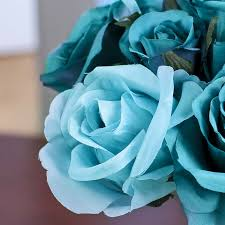 teal roses teal artificial nosegay bouquet bushes and bouquets