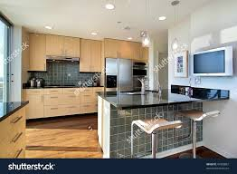 apartments divine upscale kitchen modern condo stock photo