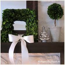 this is happiness boxwood christmas mantel