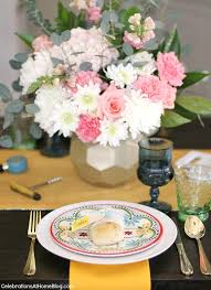 how to add more color to the dining table celebrations at home