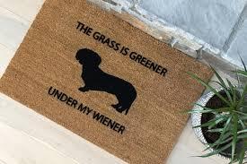 funny doormat funny doormat welcome mat dachshund doormat handmade