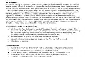 Job Description For Office Assistant Resume by Front Office Assistant Resume Sample Reentrycorps