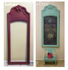 Upcycled Home Decor Upcycled Vintage Mirror Frame To Chalkboard Hometalk