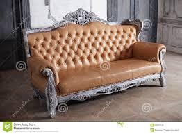 Luxury Leather Sofa Luxury Leather Sofa Style Borokko In A Beautiful Stock Image