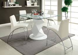 Glass Top Pedestal Dining Room Tables by A M B Furniture U0026 Design Dining Room Furniture Counter