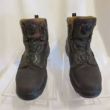 s boots with laces wing work boots mens size 8 5 brown boa laces 4216 ebay