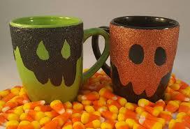 halloween coffee mug spooky horror mug dripping glitter in skull shape creepy coffee