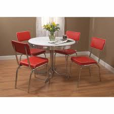 retro dining room furniture set vintage diner table 4 chairs red