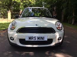 valerie has chosen this 2012 62 plate mini one in pepper white