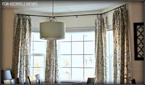 Decorative Rods For Curtains Bay Window Rods On Curtain Rods For Bay Windows