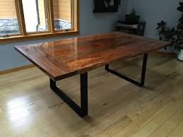 Slab Dining Table by Neal U0027s Slab Dining Table The Wood Whisperer