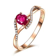 gemstone rings ruby images 0 5ct vbori 18k gold natural ruby gemstone ring for women wedding jpg