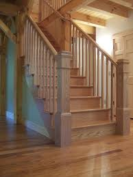Solid Banister Bennett Stair Company Inc Rustic U0026 Contemporary