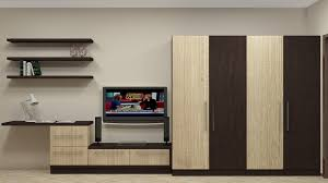 modular wardrobe design for indian bedroom having 4 door along