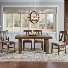 dining room table with butterfly leaf solid wood table with butterfly leaf and 4 side chairs by aamerica