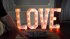 Illumin8 Led by Illuminated Led Rgb Ww Dmx Giant Letters Www Illumin8letters Uk
