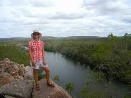 Penny standing above one of the    gorges in the Katherine River system  The area was the spirituel foundation tor the first inhabitants of the area     The Davies Family s Big Lap of Australia           blogger