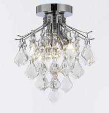 French Empire Chandelier Lighting Set Of 2 French Empire Crystal Flush Chandelier Lighting H 18