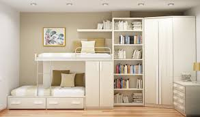 decor pretty room ideas using bunk bed and wooden wall for pretty room ideas using ivory bunk bed matched with book shelves for bedroom decoration ideas