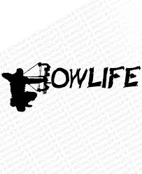bow life center shot vinyl decal bowhunting decals bow hunting bow hunting decal bow life classic decal bowhunting apparel and decals archery decals