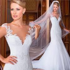 woman exotic mermaid wedding dresses pinup see through