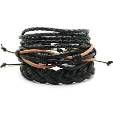 multi leather bracelet images Men 39 s leather bracelet multi layer adjustable casual men 39 s jpg