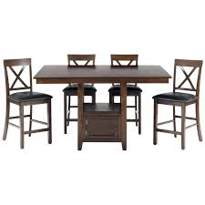 counter height dining table with glass lazy susan and storage base coaster hyde counter height square dining table with storage base in cappuccino mix match pedestal by counter height dining table with glass lazy susan