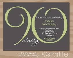 90th birthday invitation wording 365greetings com