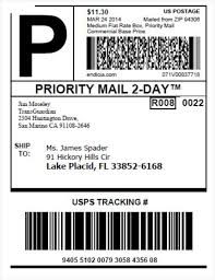 usps shipping label template usps shipping label template