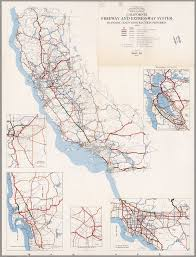 Los Angeles Freeway Map by California Freeway And Expressway System January 1968 David