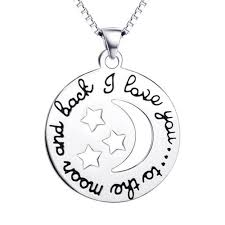 love star necklace images 925 sterling silver moon and star jewelry love necklace vanika png
