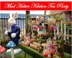 mad hatter kitchen tea bridal shower tickled pink party ideas