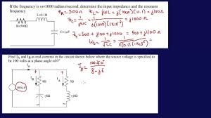 input impedances resonant frequency fe exam review youtube