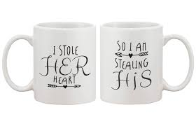 wedding gift mugs his and hers coffee mugs i stole heart so i m stealing his