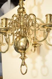 Brass Antique Chandelier A Six Light Dutch Brass Antique Chandelier 19th Century
