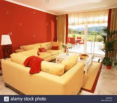 Modern Yellow Sofa Bright Yellow Sofas And Wall In Modern Living Room With