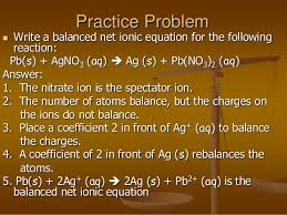 ch 8 balancing chemical reactions