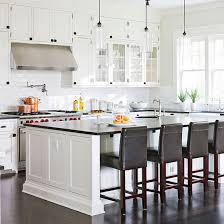stunning kitchen island with breakfast bar and stools