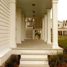 square porch columns might be too traditional for a contemporary